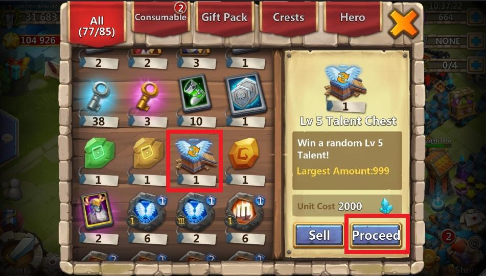 How to use talent rune? - Castle Clash Forum