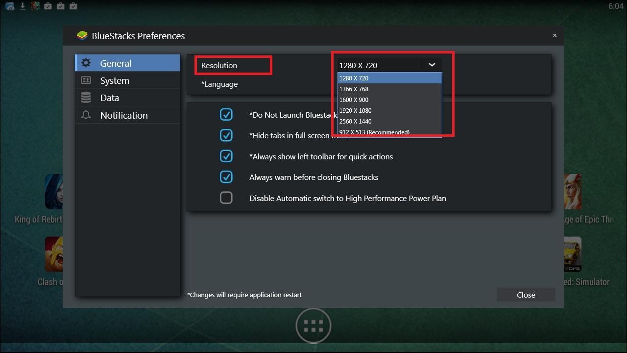 How to change Bluestacks screen resolution? - BlueStacks Forum